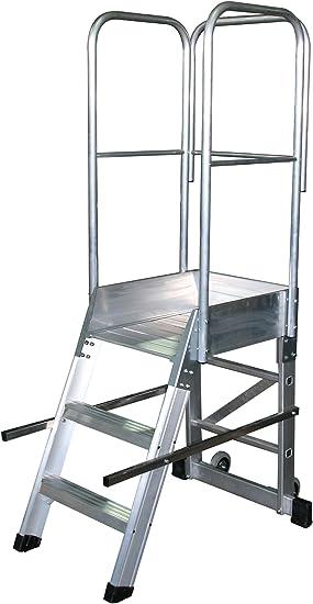 Arcama 1EP49060074 Escalera plataforma móvil industrial, 49 x 60 x 74 cm: Amazon.es: Bricolaje y herramientas