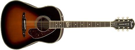 """Fender 0968550998 Ron Emory""""Loyalty"""" Guitarra eléctrica de hombro inclinado Dreadnought – Vintage Sunburst"""