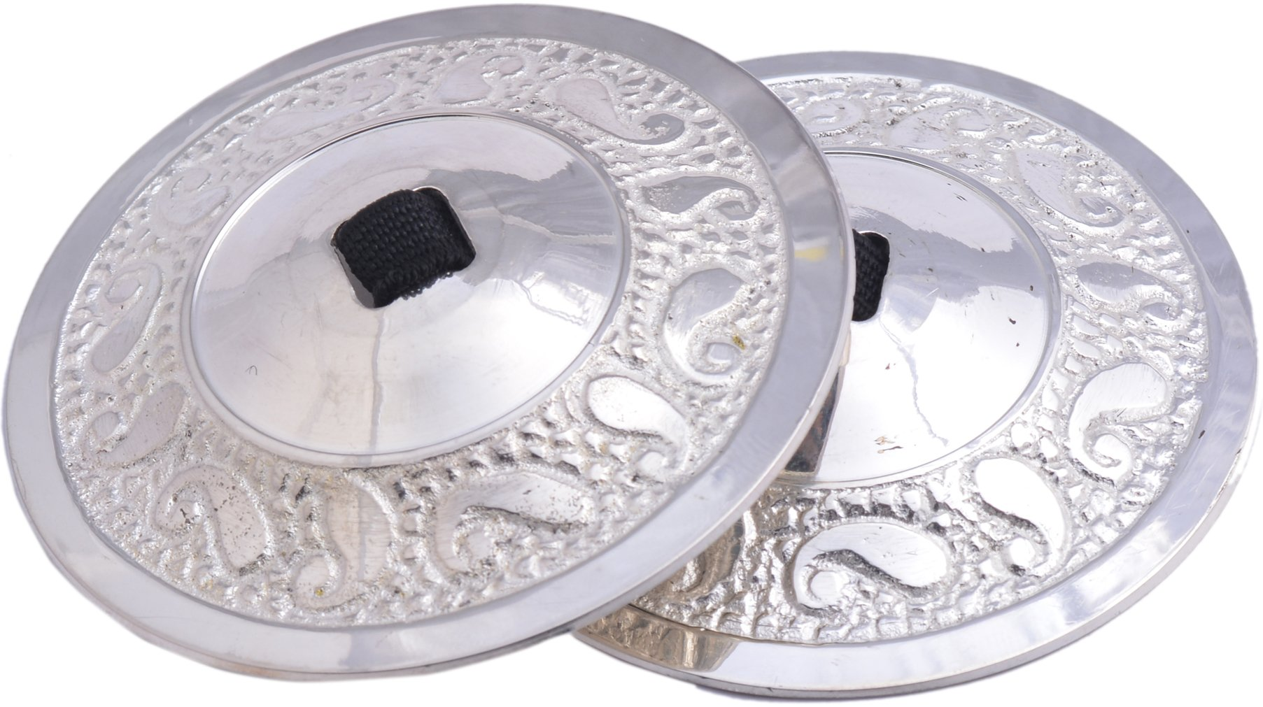 Wevez 2 Pairs - Belly Dance Zills/Cymbals for Tribal Belly Dance Silver by Wevez