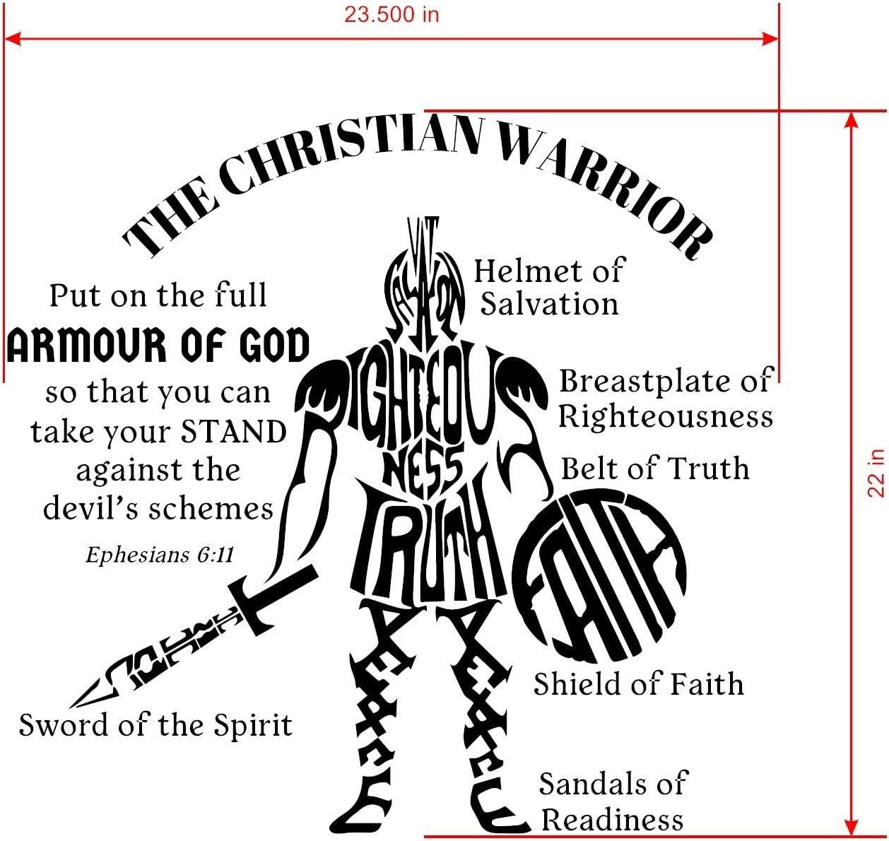 Amazon Com Ephesians 6 11 Is Vinyl Wall Decals Design The Armour
