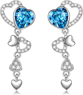 6th Anniversary Heart Earring and Necklace Set