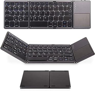 Plegable Bluetooth Teclado con TouchPad, batería portátil ...