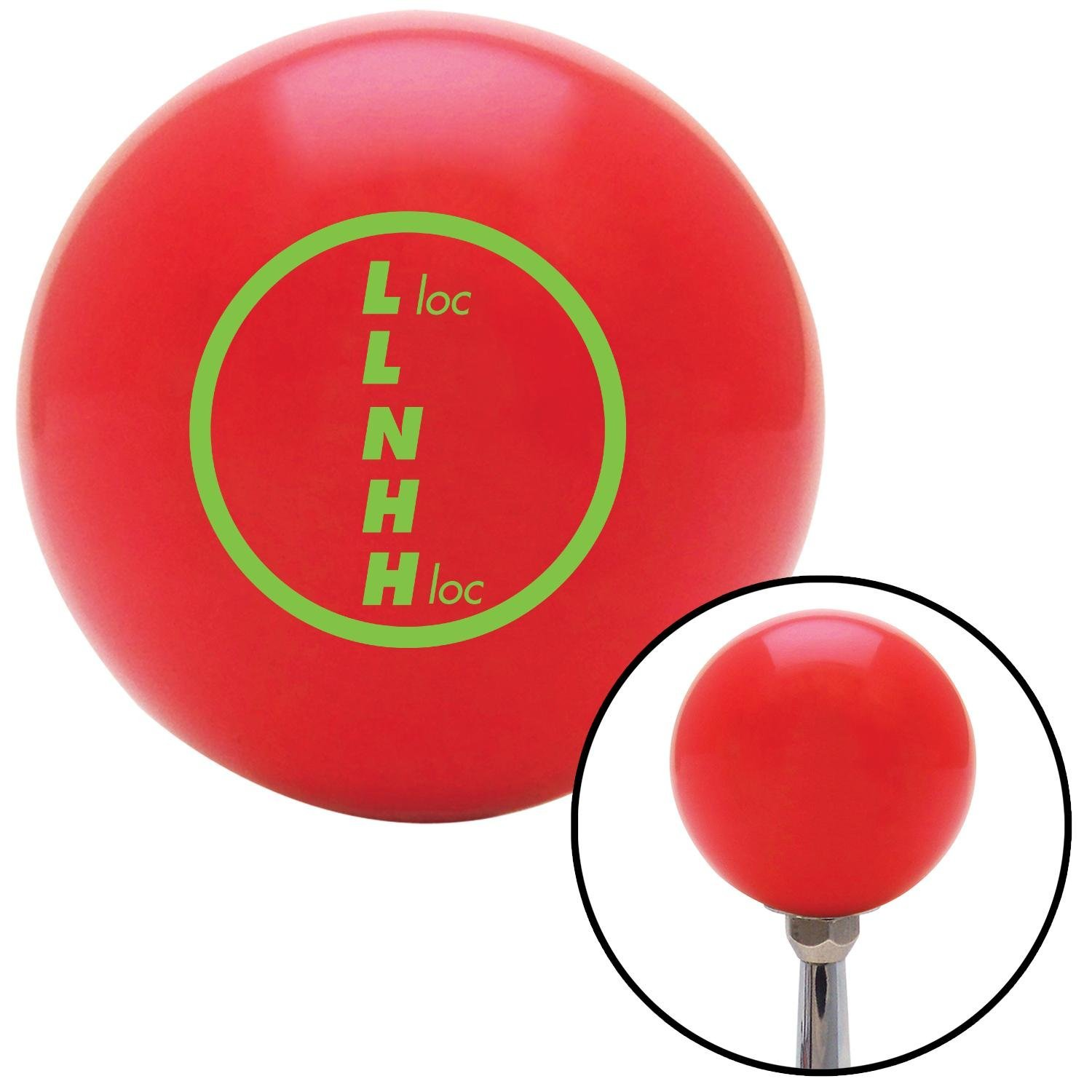 American Shifter 100673 Red Shift Knob with M16 x 1.5 Insert Green Transfer Case #1