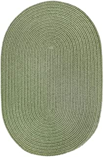 product image for Rhody Rug Venice Indoor/Outdoor Oval Braided Rug (4' x 6') Olive