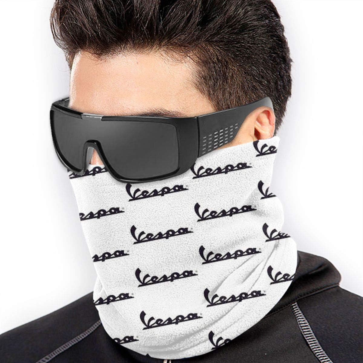 Hokzonb Vespa Logo Multifonction Tour de cou Cache-/écharpe de sport de plein air Bandeau Bandana Bavoir Bandeau de Cheveux Masque de Ski pour Hommes Femmes
