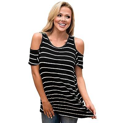 aa76ecaf4 ... Suelto Manga Corta Ropa De Mujer Embarazada Impresión Digital Camiseta.  Now €7.62€8.47. Nuevo Negro y Blanco frío hombro blusa de para fiesta  camiseta ...