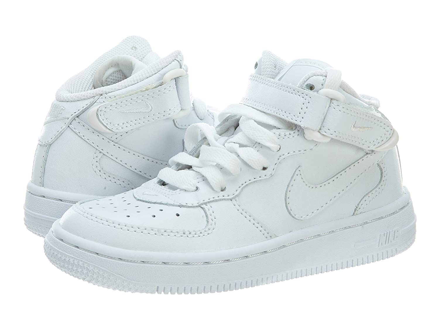 NIKE AIR FORCE 1 MID (PS) LITTLE KIDS 308937 112 (12, WHITE