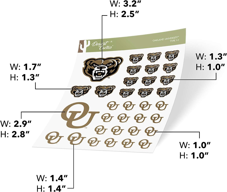 Sticker - WD-001 Oakland University Golden Grizzlies NCAA Vinyl Decal Laptop Water Bottle Car Scrapbook
