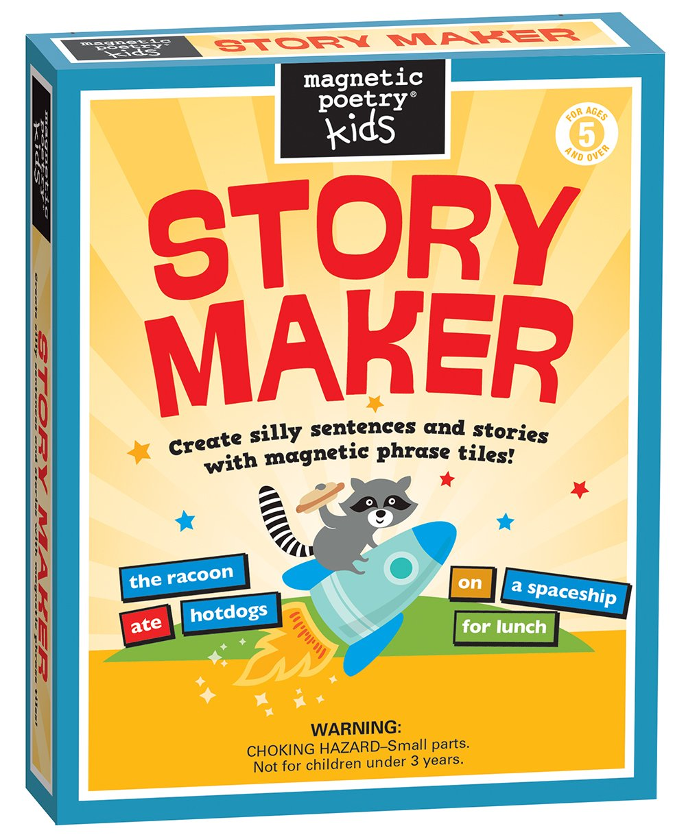 Magnetic Poetry - Kids Story Maker Kit - Ages 5 and Up - Words for Refrigerator - Write Poems and Letters on the Fridge - Made in the USA by Magnetic Poetry