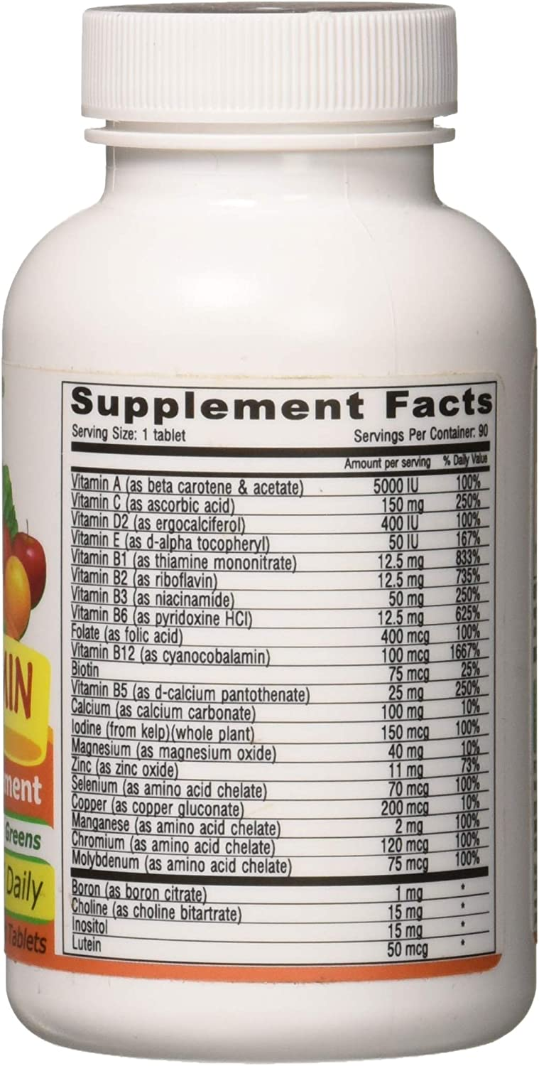 Deva Vegan Multivitamin and Mineral Supplement with Iron Free -- 90 Tablets: Health & Personal Care