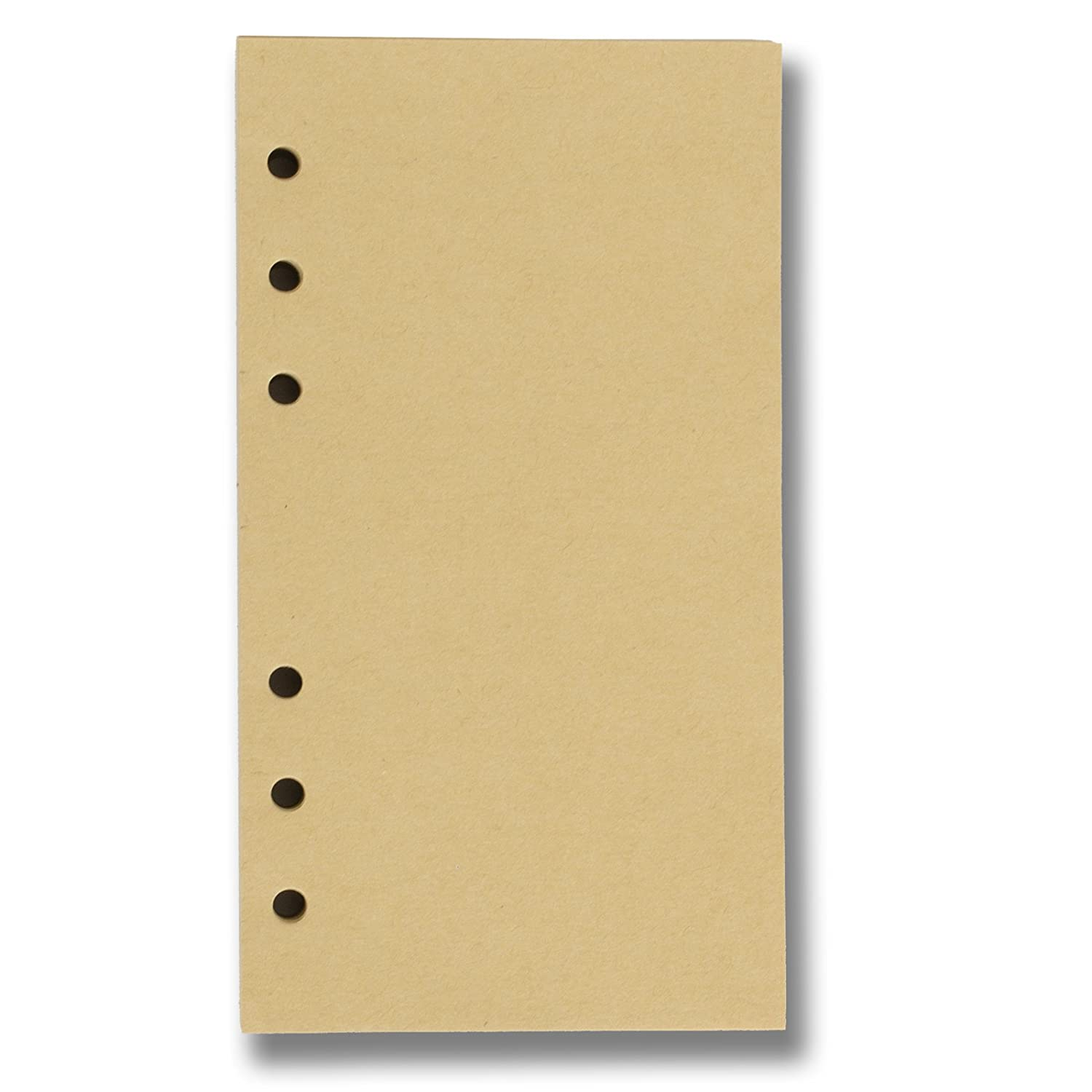 Refills 6 Hole Blank Craft Paper for A5 Loose Leaf Binder Notebook 5.7 X 8.25 Inches 100 sheets / 200 pages C&L Workshop
