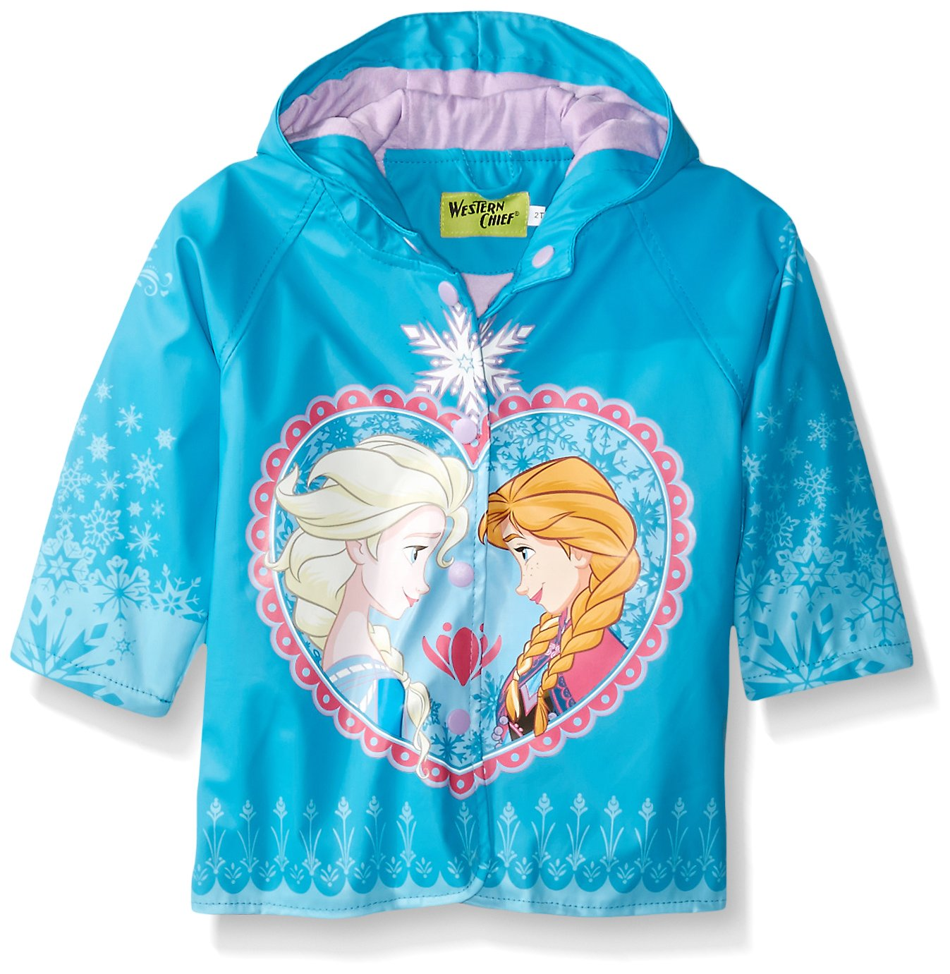 Western Chief Kids Disney Character lined Rain Jacket, Frozen Anna and Elsa, 4T by Western Chief