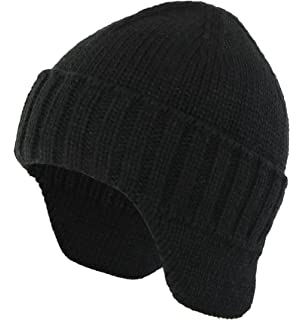 1edc3b77540 Home Prefer Mens Winter Hat Knit Earflap Hat Stocking Caps with Ears Warm  Hat