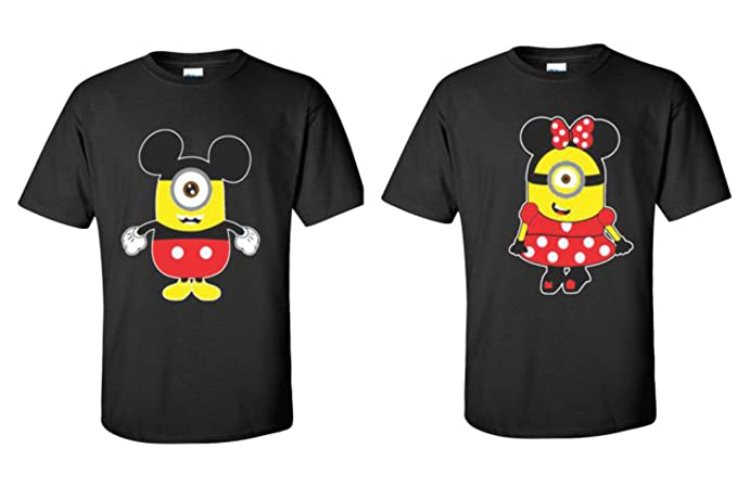Minion Kissing Camera : Minions minnie mickey mouse t shirts matching couples disney t