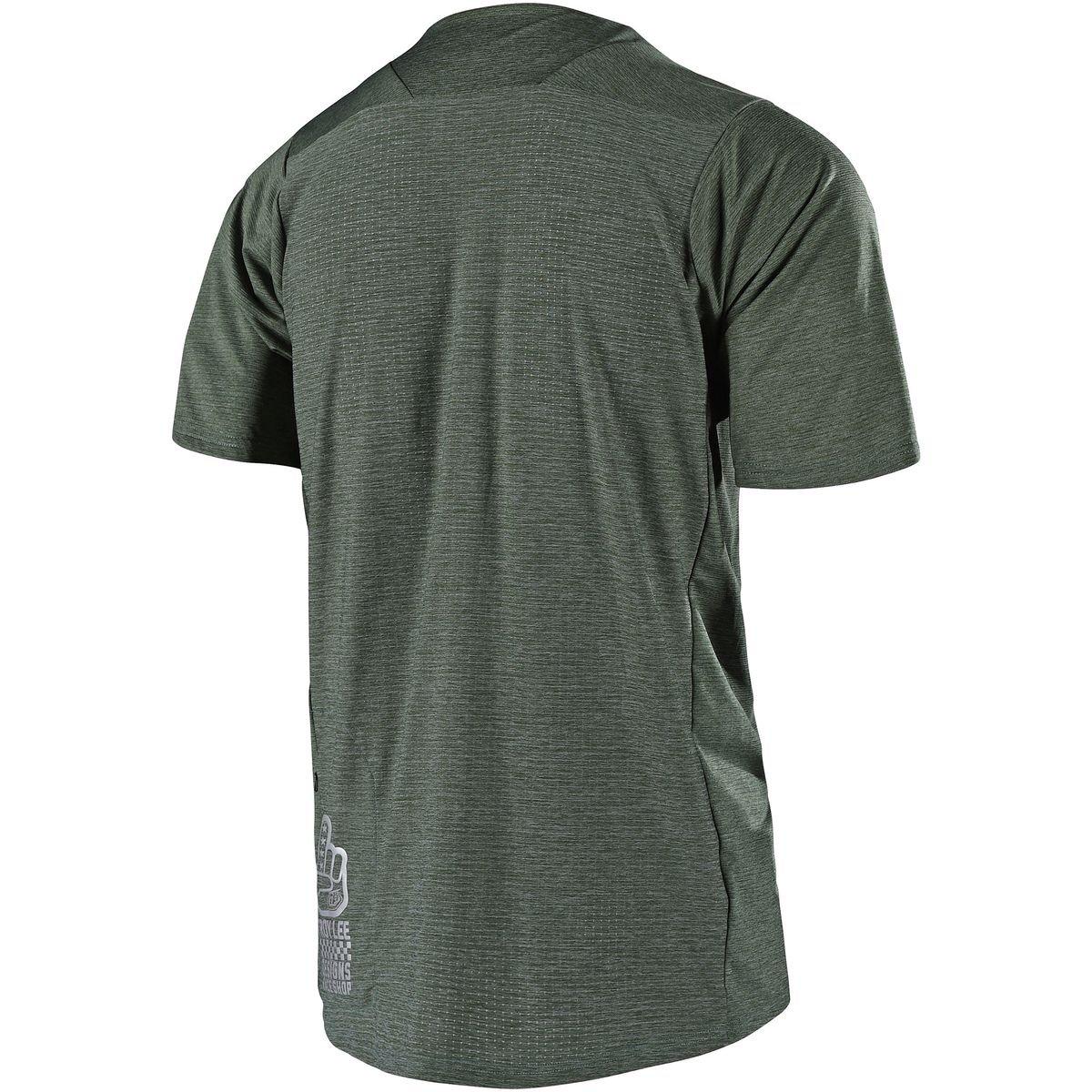 Troy Lee Designs Skyline Short-Sleeve Jersey M Mens Solid Black