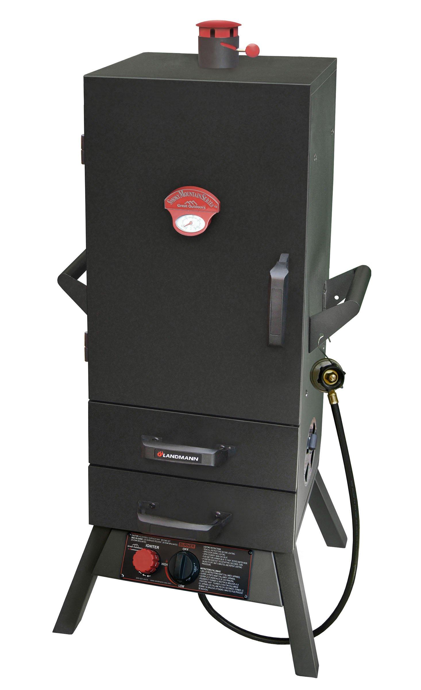 Landmann USA 3495GLA Smoky Mountain Vertical Gas Smoker, 34-in