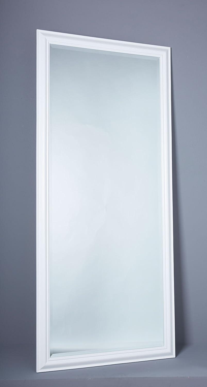 LC GmbH Wandspiegel Spiegel Hängespiegel Ankleidespiegel Ganzkörperspiegel schlicht weiß ca. 180 x 80 cm