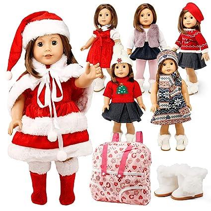 Amazon.com: Oct17 ropa de muñeca para niña americana, 18.0 ...