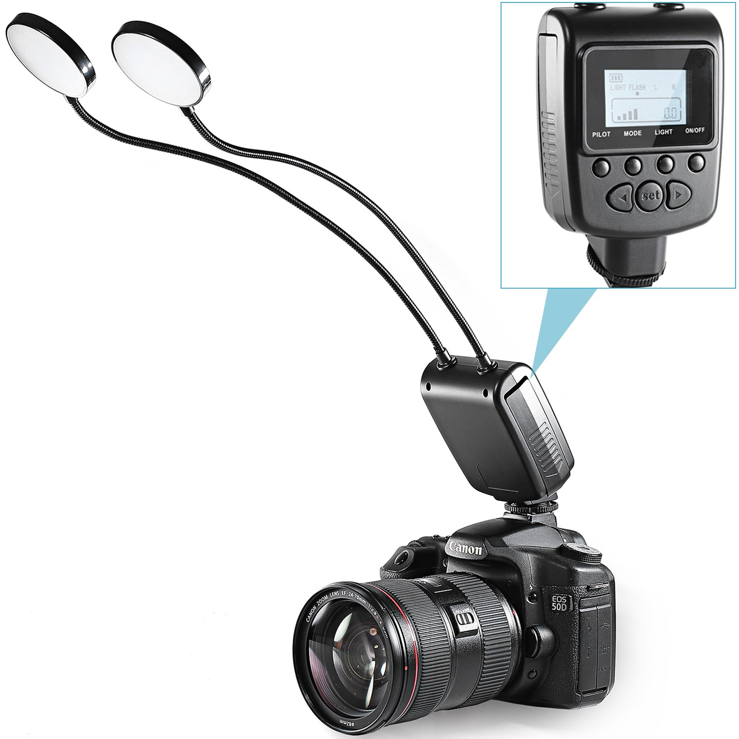 Amazon.com  Neewer Versatile Flexible Two Metal Tube Adjustable LED Round Light Flash with LCD Display for Macro Close-up Photography Lighting ...  sc 1 st  Amazon.com & Amazon.com : Neewer Versatile Flexible Two Metal Tube Adjustable ... azcodes.com