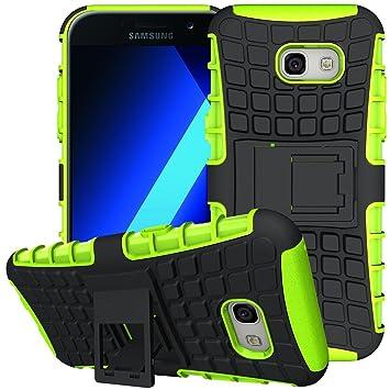 Conie Outdoor Hülle kompatibel mit Samsung Galaxy A5 2017, verstärkte Schutzhülle Rutschfest wasserabweisend Kantenschutz Rückschale Case in Grün