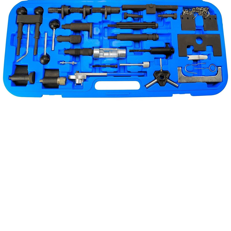 MRCARTOOL Kit de Herramientas de Bloqueo de Correa de distribuci/ón para VW Audi 2,4 2,8 3,2 4,2 3,0T Touareg Q7 T40133 T40070 A6L Herramienta de alineaci/ón del /árbol de levas del Motor