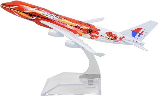 TANG DYNASTY(TM 1:400 16cm Malaysia Airlines B747-400 Peony Metal Airplane Model Plane Toy Plane Model
