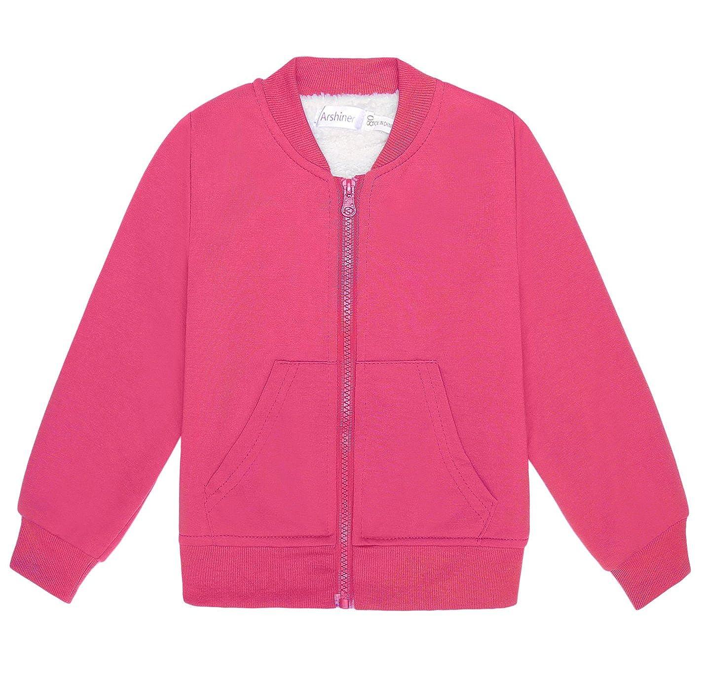 Arshiner Boys Plain Fleece Zipper Jacket