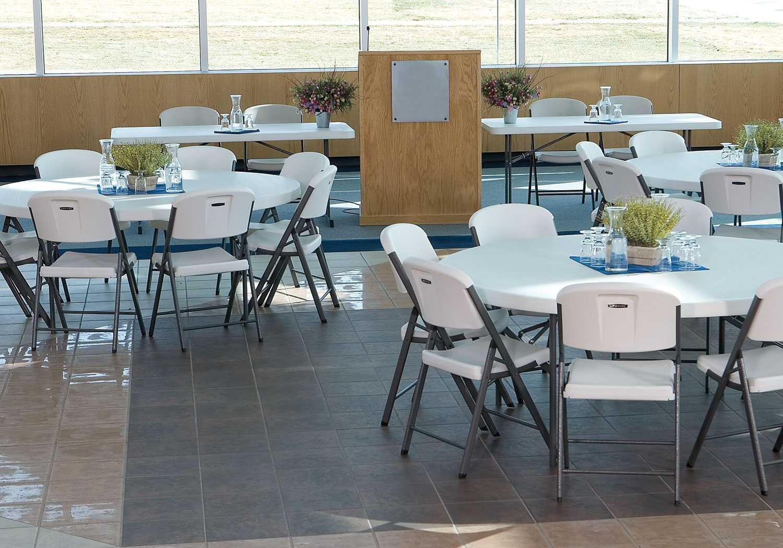 amazoncom lifetime folding chair white granite pack of 8 8folding chairs kitchen u0026 dining