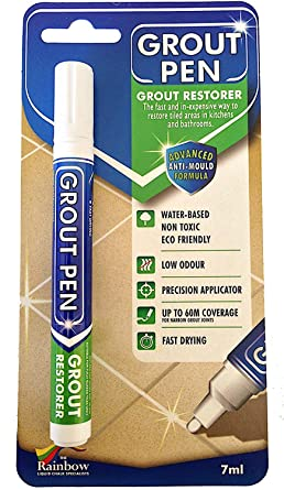 Grout Pen White - Ideal to Restore the Look of Tile Grout Lines ...