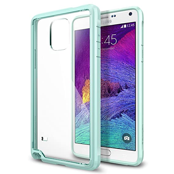 online store 4a52e f32dc Spigen Ultra Hybrid Galaxy Note 4 Case with Air Cushion Technology and  Hybrid Drop Protection for Samsung Galaxy Note 4 2014 - Mint