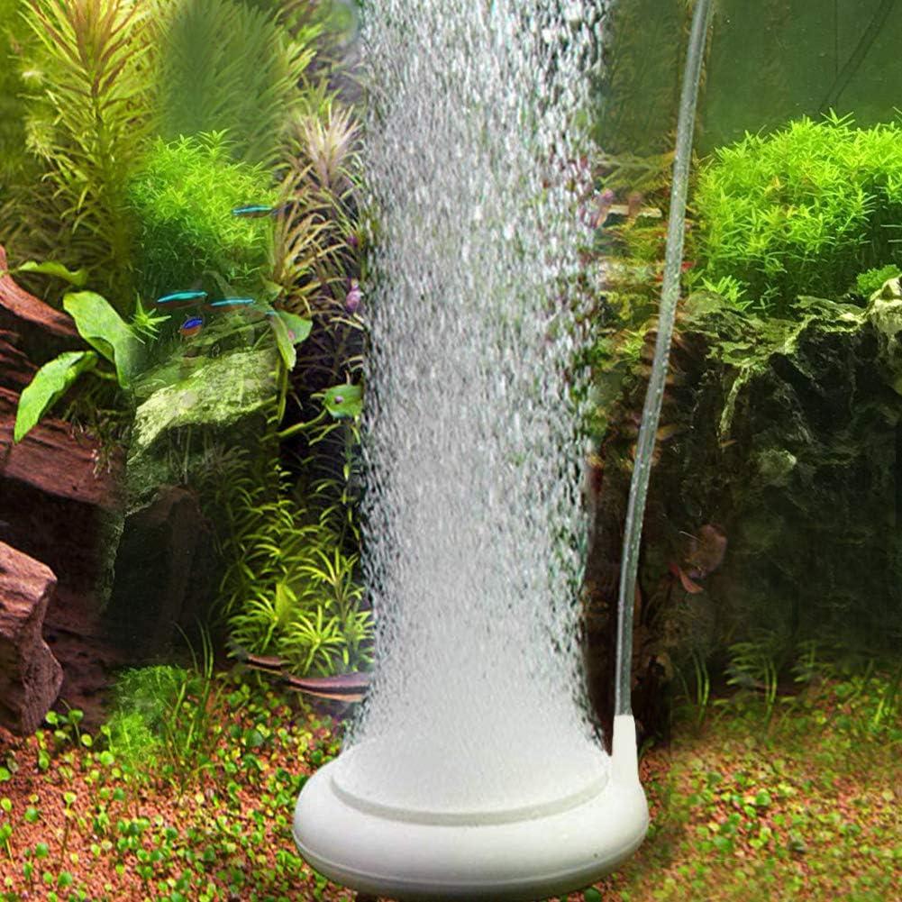 MingDak Aquarium Air Stone, Aquarium Bubble Stone Fish Tank Oxygen Stone Ultra Silent Deep Dissolving Oxygen Diffuser Kit for Fish Tank and Hydroponic