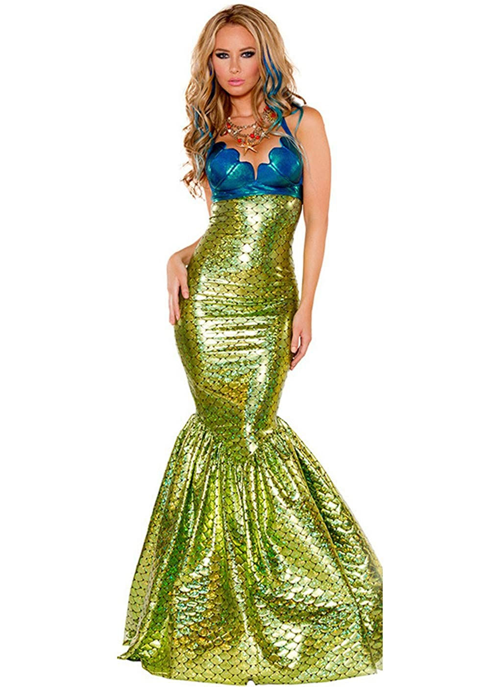Women's Sexy Shimmer Mermaid Costume - DeluxeAdultCostumes.com