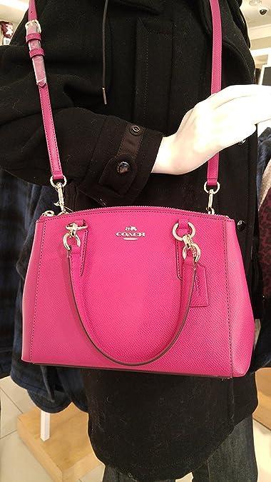 d28a5ac52a50 Coach Christie Crossgrain Leather Handbag Pink F36704  Handbags ...