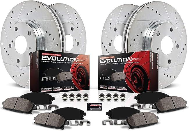 Z0580 Performance Cross Drilled Brake Rotors /& Ceramic Pads FRONT+REAR SET