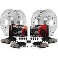 Fits:- Range Rover 4 Semi-Metallic Pads 2 Silver Coated Cross-Drilled Disc Brake Rotors High-End 5lug Rear Kit