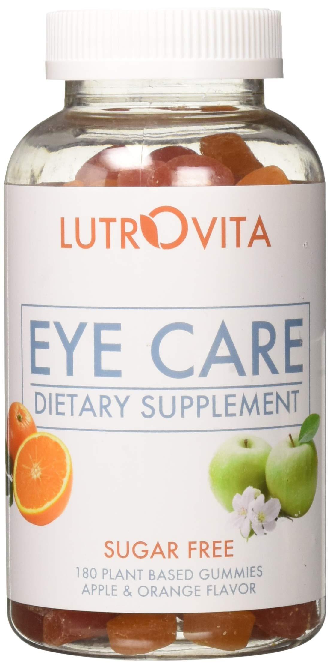 Lutrovita Sugar Free Eye Care Gummy, Orange & Apple, 180 Count