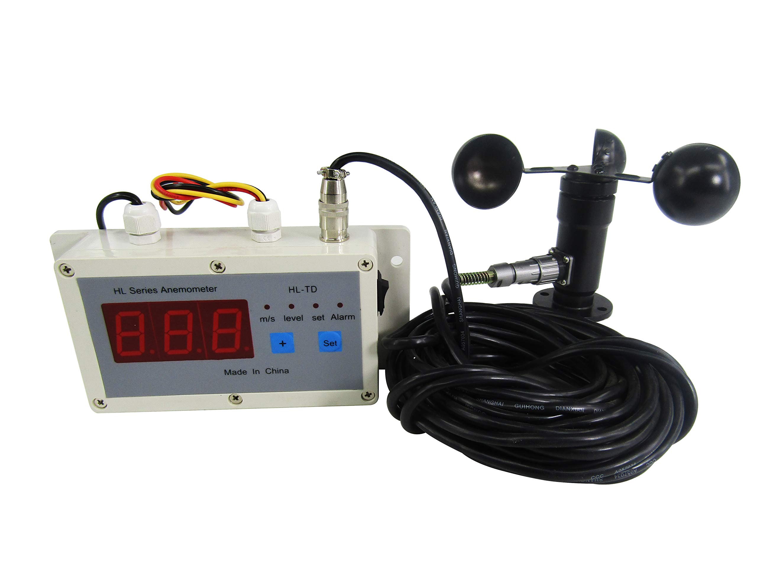 KUNHEWUHUA Wind Speed Alarm Device Anemometer Wind Speed Measurement & Control Instrument Gantry Crane Dedicated Anemometer Digital Display 110V by KUNHEWUHUA (Image #3)