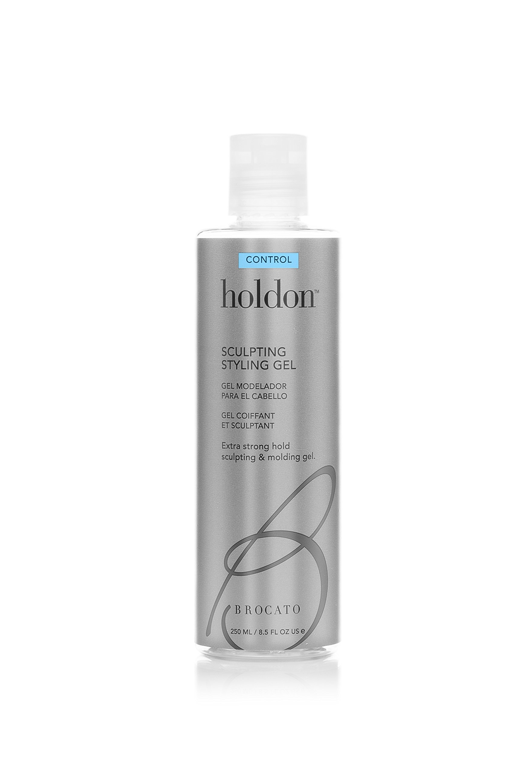 Brocato Holdon Sculpting Styling Gel: Firm Control & Strong Hold Hair Products for Men & Women - Volumizing Product for Molding, Shaping & Sculpting Hairstyles - Adds Shine & Manageability - 8.5 Oz
