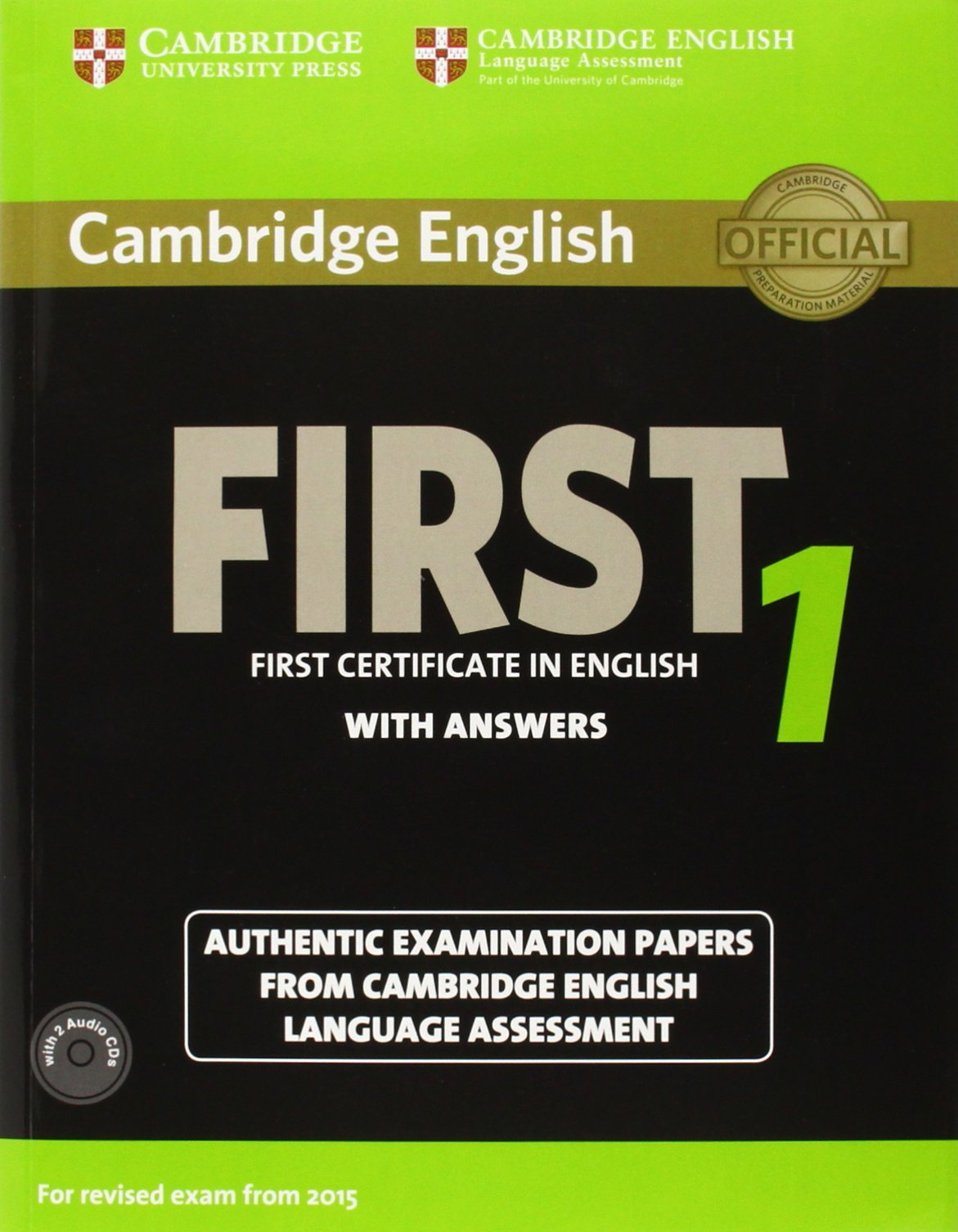 Cambridge English First 1 for Revised Exam from 2015 Students ...