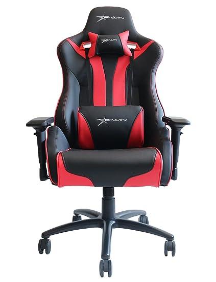 Ewin silla Flash XL Serie Oficina ergonómica silla de espalda alta silla de Juegos con pillows