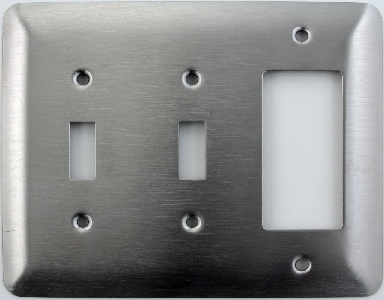 Mulberry Princess Style Satin Stainless Steel 3 Gang Switch Plate 2 Toggle Light Switch Opening 1 Gfi Rocker Opening Classic Accents Two Toggle One Gfi Amazon Com