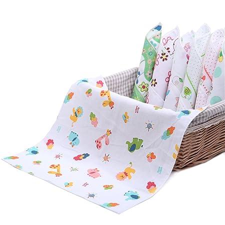 de muselina 10 toallas para beb/é de 28 x 28 cm pa/ñuelos de dos capas