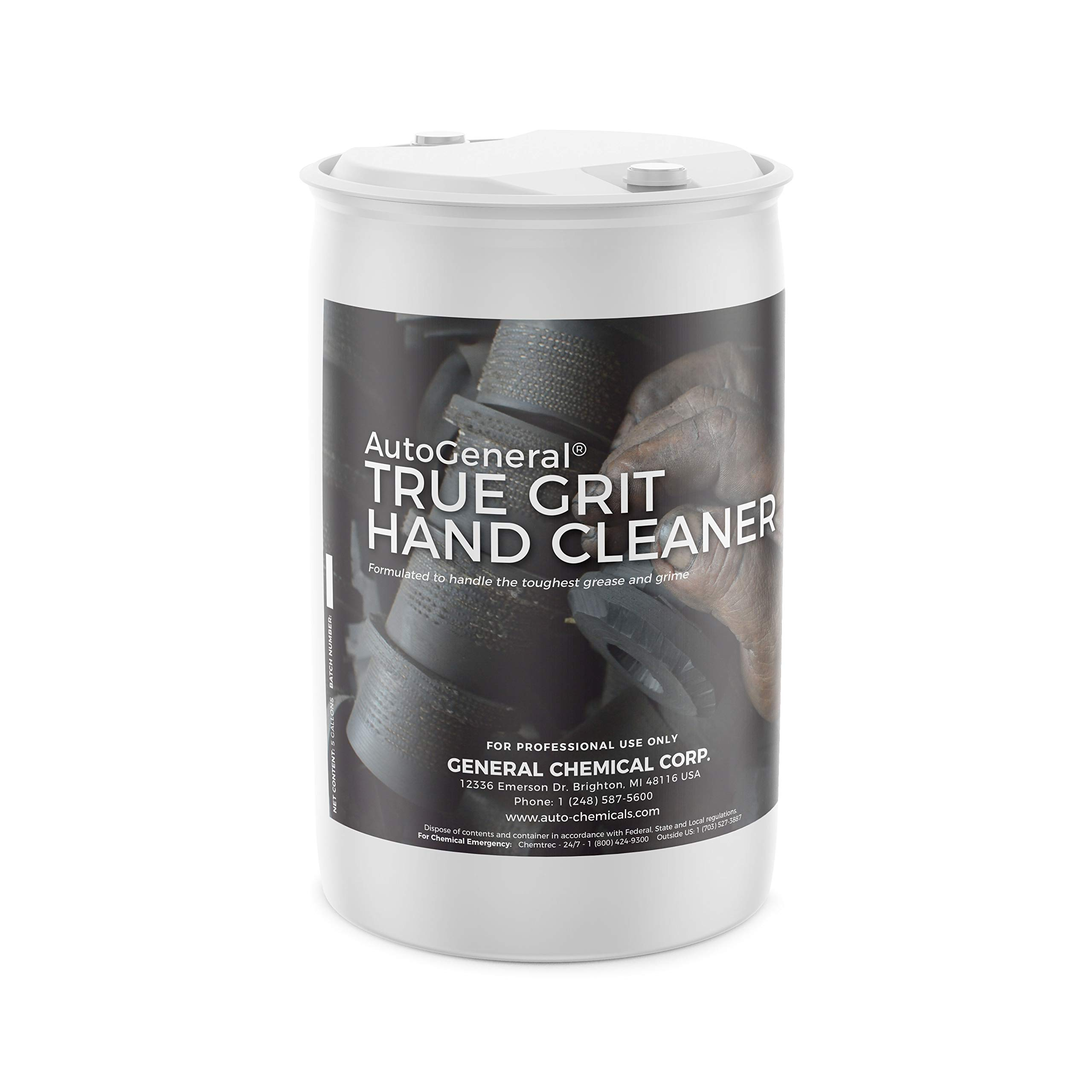 Auto General True GRIT Hand Cleaner Lotion Removes Tough Grease, Stains & Residue for Painters Auto Mechanics & Craftsman (55 Gallons)
