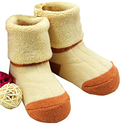 1 Pair Baby Winter Cotton Socks Thick Warm Socks 0-3 Years (light coffee)