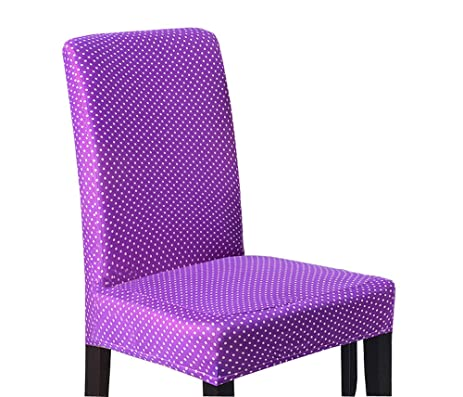 Soft Spandex Fit Stretch Short Dining Room Chair Covers With Printed Pattern Banquet Seat
