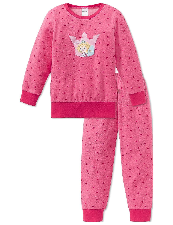 Schiesser Mädchen Zweiteiliger Schlafanzug Warmer Frottee Set mit Prinzessin Lillifee Motiv 163156