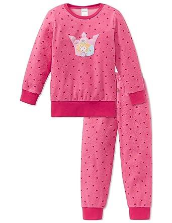 51d16f818f Schiesser Mädchen Zweiteiliger Schlafanzug Warmer Frottee Set mit  Prinzessin Lillifee Motiv, Rot (Pink 504