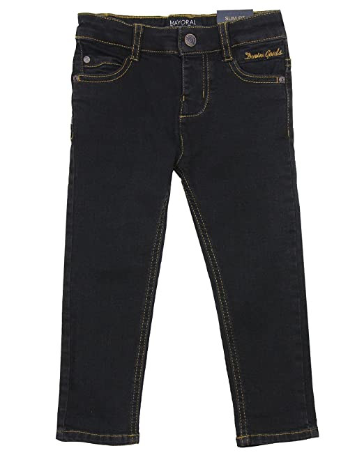 1352b5e5d Mayoral Boy's Black Slim Fit Denim Pants, Sizes 2-9: Amazon.ca ...