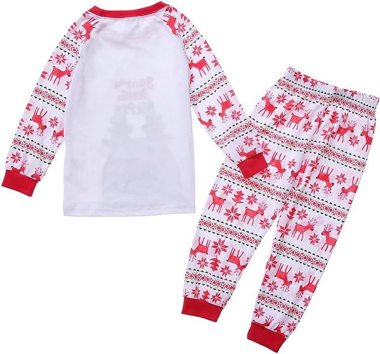 Amazon.com: Exemaba Kids Pajamas Set - Flying Reindeer Little Boys ...