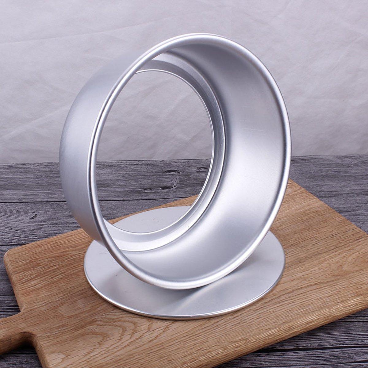 Molde redondo de aluminio anodizado para queso con parte inferior extraíble para hornear y tartas de 15,24 cm: Amazon.es: Hogar
